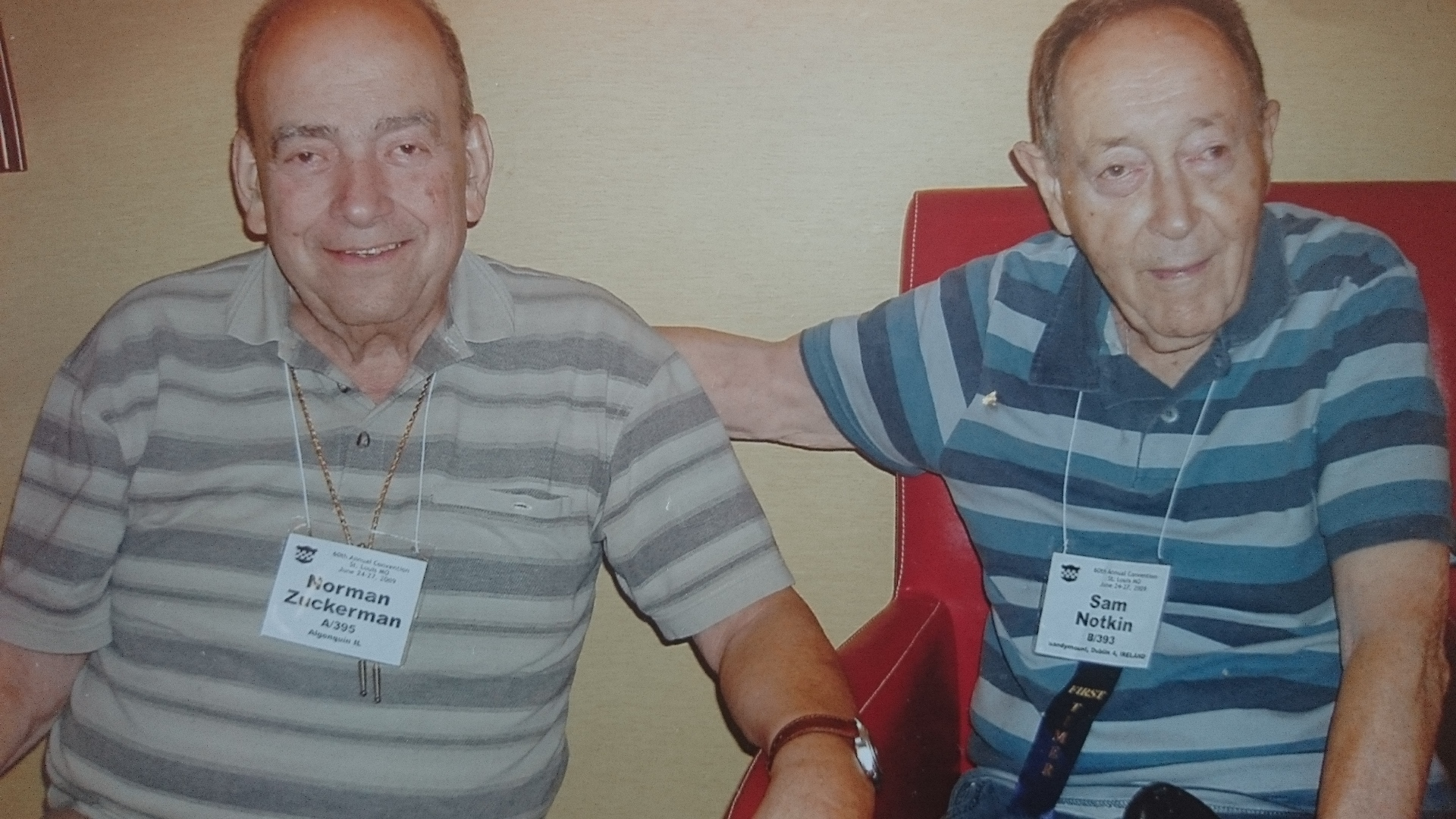 Sam Notkin & Norman Zuckerman at 99th Division reunion