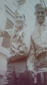 Sam Notkin & Norman Zuckerman at Camp Maxey, Texas, 1943